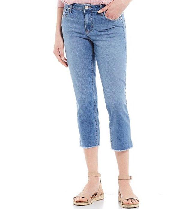 コード ブルー レディース デニムパンツ ボトムス Petite Size Classic Raw Hem Capri Jeans Light Shirley