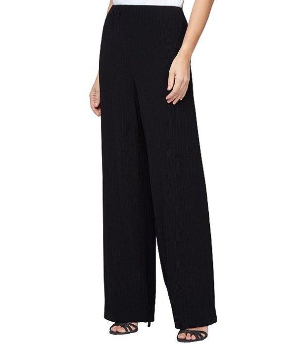 アレックスイブニングス レディース カジュアルパンツ ボトムス Petite Size Straight Leg Pull-On Pant Black