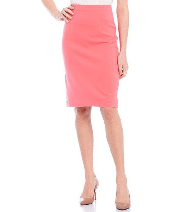タハリエーエスエル レディース スカート ボトムス Double Weave Fitted Pencil Skirt Rouge Red