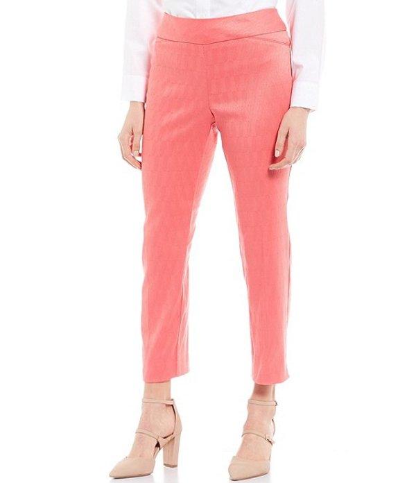 インベストメンツ レディース カジュアルパンツ ボトムス Petite Size the PARK AVE Fit Novelty Pull-On Classic Ankle Pants Coral