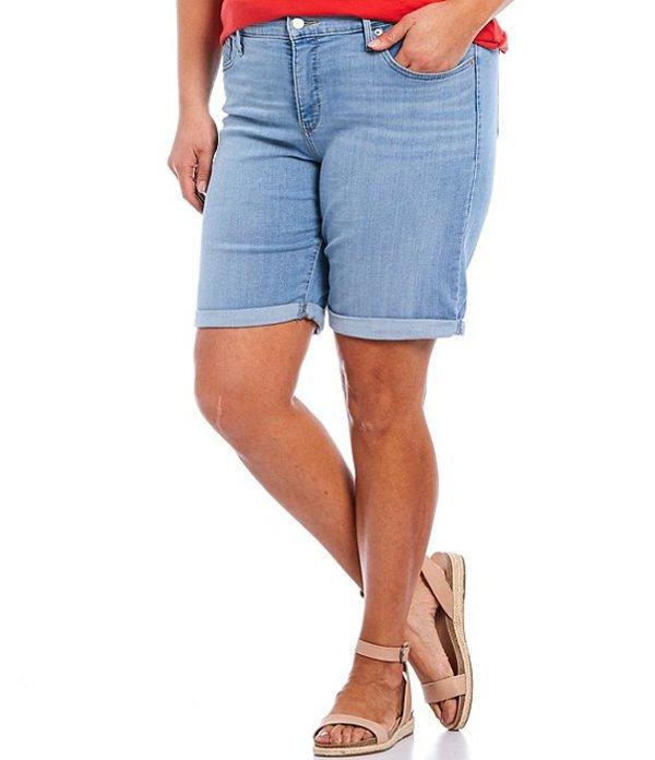 リーバイス レディース ハーフパンツ・ショーツ ボトムス Levi'sR Plus Size Shaping Bermuda Shorts Oahu Morning Dew Chills