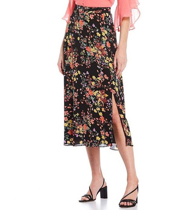 インベストメンツ レディース スカート ボトムス Side Zip Floral Print Midi Skirt Whimsy Floral