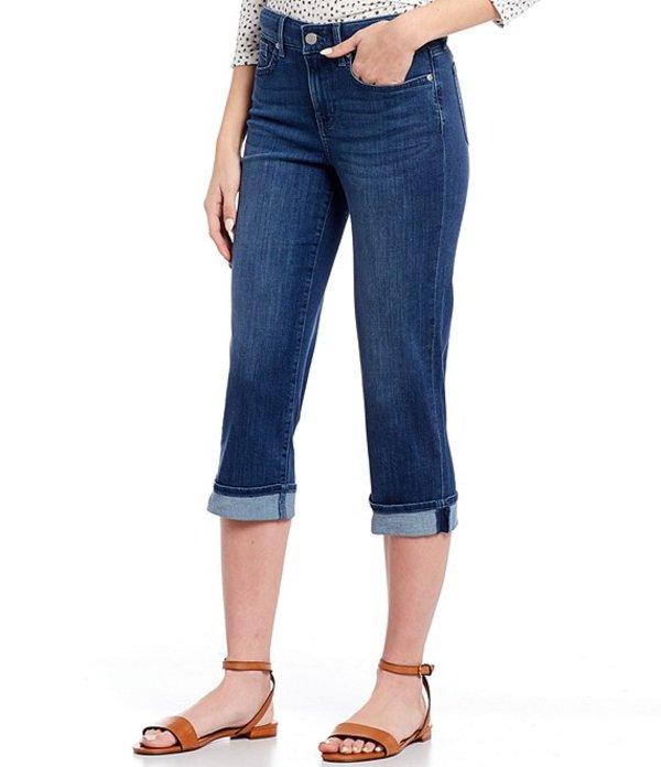 エヌワイディージェイ レディース デニムパンツ ボトムス Petite Size Marilyn Cuffed Crop Cool EmbraceR Denim Jeans Dark Solana