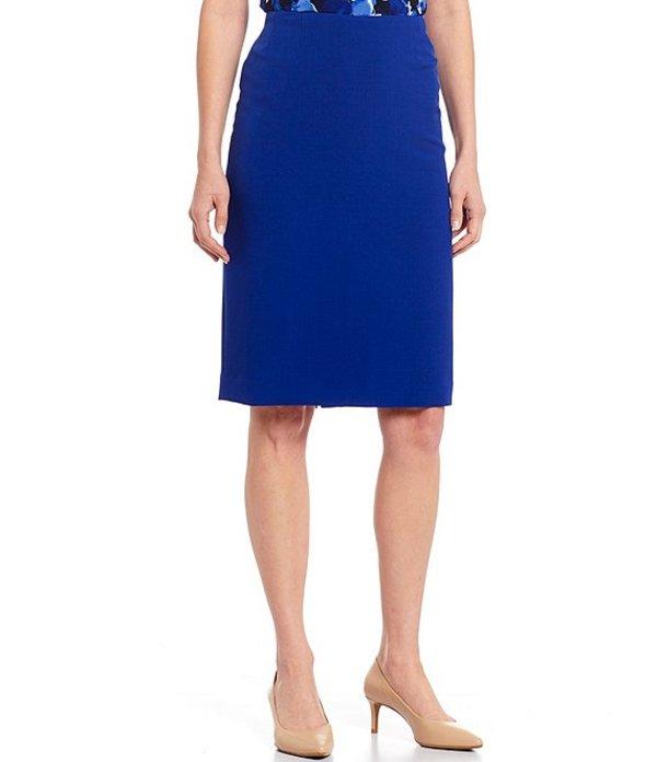 カスパール レディース スカート ボトムス Crepe Slim Pencil Skirt Capri Blue