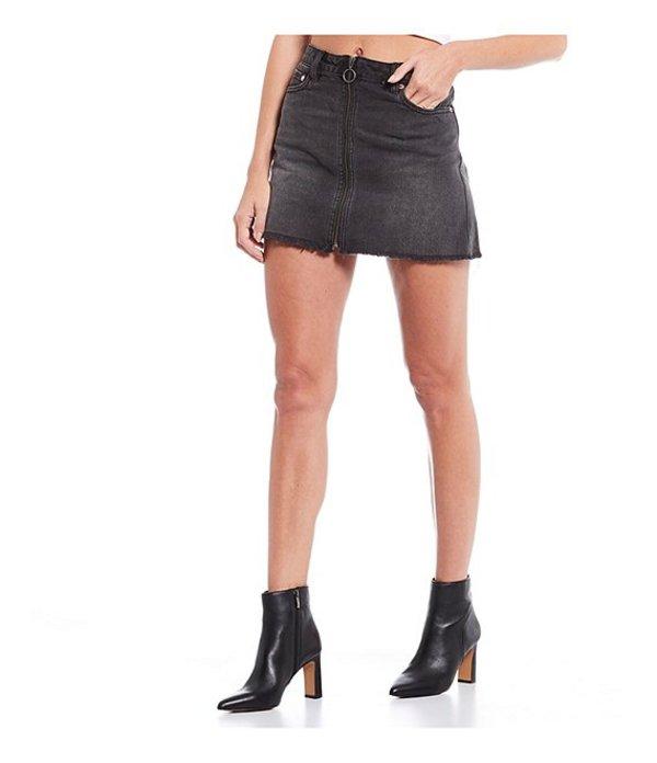 フリーピープル レディース スカート ボトムス Zip It Up Denim Mini Skirt Black