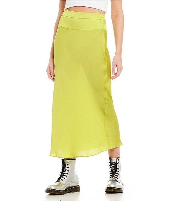 フリーピープル レディース スカート ボトムス Normani Bias Satin Midi Skirt Lime