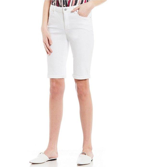ジョーンズニューヨーク レディース ハーフパンツ・ショーツ ボトムス Lexington Stretch Denim Bermuda Shorts Soft White