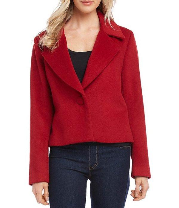 カレンケーン レディース ジャケット・ブルゾン アウター One-Button Wool Blend Blazer Red