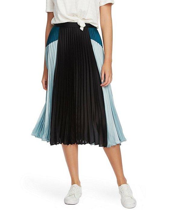 ワンステート レディース スカート ボトムス Satin Colorblock Pleated Midi Skirt Dusty Mint