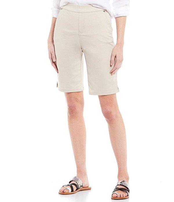 イントロ レディース ハーフパンツ・ショーツ ボトムス Rose Tummy Control Pull-On Power Stretch Bermuda Shorts Sand
