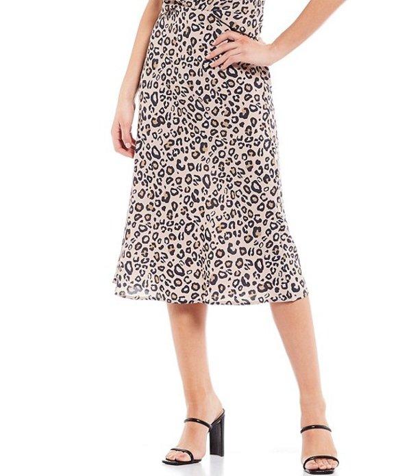 サンクチュアリー レディース スカート ボトムス Everyday Cheetah Print Bias Cut Midi Skirt Neutral Spots