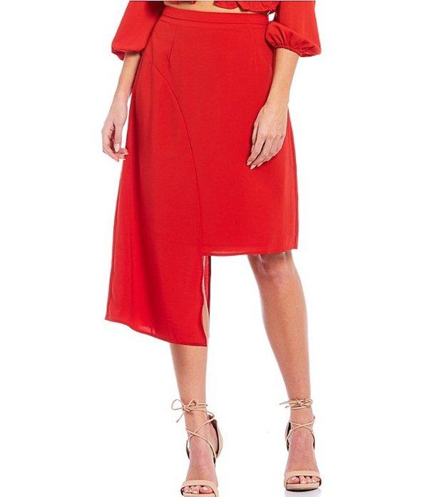 シュガーリップス レディース スカート ボトムス Asymmetrical Midi Skirt Red