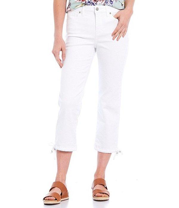 エヌワイディージェイ レディース デニムパンツ ボトムス Stretch Denim Drawstring Hem Capri Jeans White