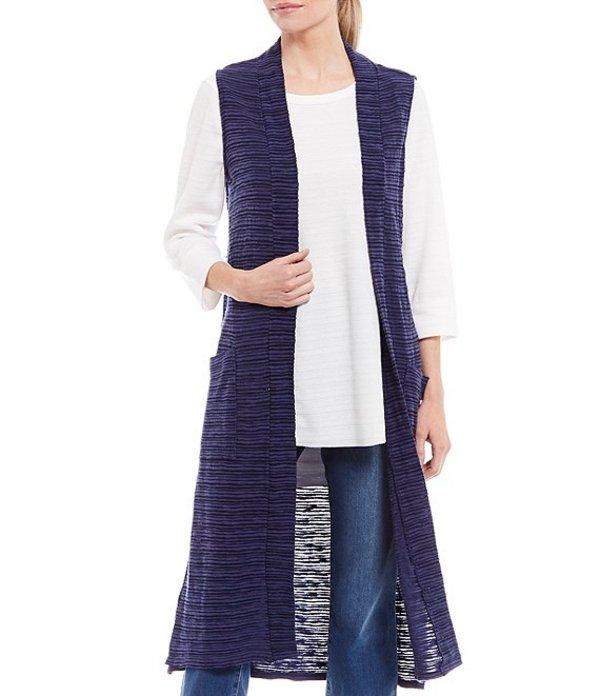 ウエストバウンド レディース ベスト アウター Two-Pocket Sleeveless Open Front Duster Vest Evening Blue