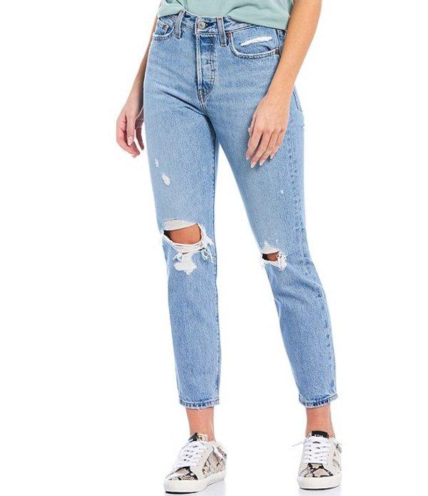 リーバイス レディース デニムパンツ ボトムス Levi'sR Authentically Yours Wedgie Icon Fit High Rise Destruction Detailed Tapered Leg Jeans Authentically Yours