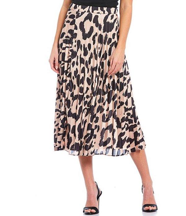 サンクチュアリー レディース スカート ボトムス Everyday Animal Pleated Midi Skirt Oversized Spot