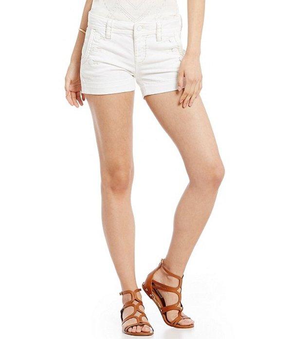 ミスミー レディース ハーフパンツ・ショーツ ボトムス Sailor Woven Stretch Denim Shorts White