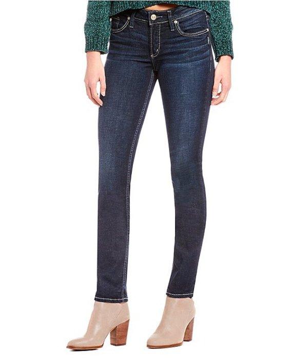 シルバー ジーンズ レディース デニムパンツ ボトムス Elyse Straight-Leg Jeans Indigo