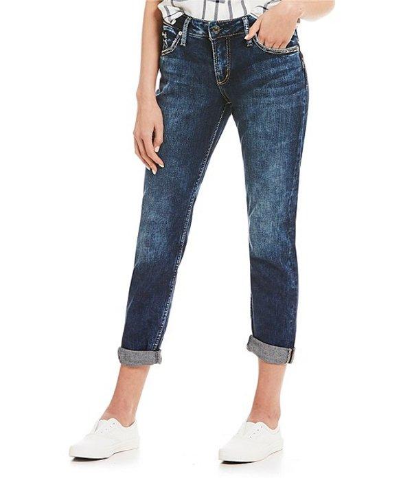 シルバー ジーンズ レディース デニムパンツ ボトムス Boyfriend Rolled Cuff Jeans Indigo