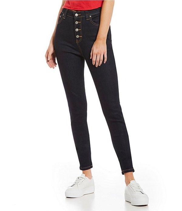 ディッキーズ レディース デニムパンツ ボトムス Exposed Button High Rise Skinny Jeans Dark Rinse