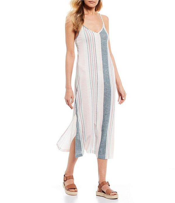 ロキシー レディース ワンピース トップス Avila Stripe Midi Dress North Atlantic true Stripes