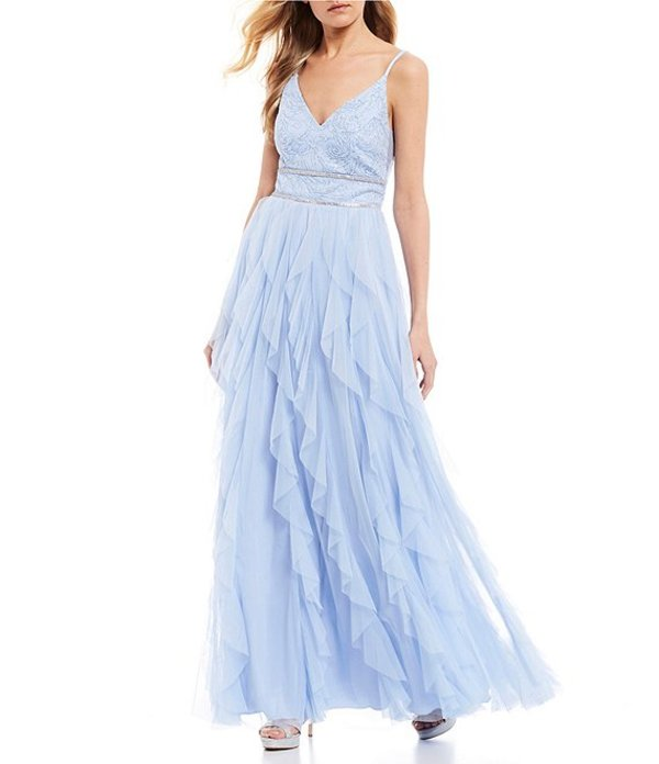 ティーズミー レディース ワンピース トップス Caviar Beaded Bodice Corkscrew Dress Light Blue