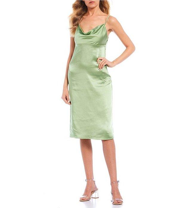 ジービー レディース ワンピース トップス Satin Slip Dress Green