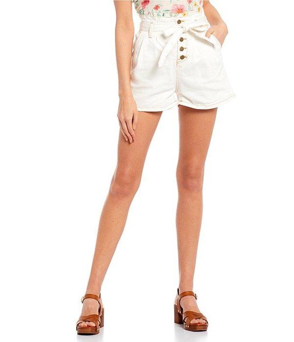 ジービー レディース ハーフパンツ・ショーツ ボトムス Button Front High Rise Shorts White