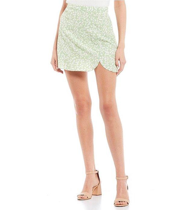 ジービー レディース スカート ボトムス Side Slit Dotted Skirt Sage Ivory
