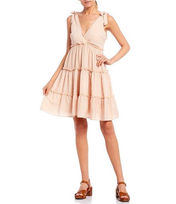 ジービー レディース ワンピース トップス Swing Tie Shoulder Tiered Dress Blush