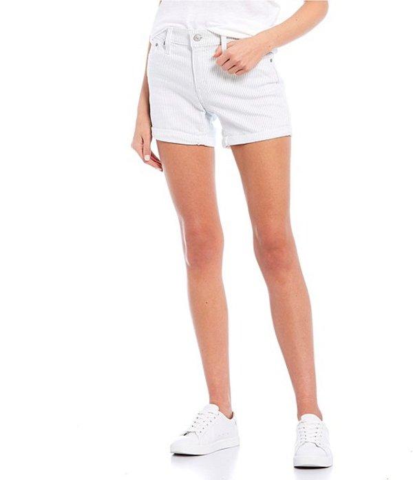 リーバイス レディース ハーフパンツ・ショーツ ボトムス Levi'sR Stripe Mid Length Rolled Cuff Shorts Soft Annemarie Stripe