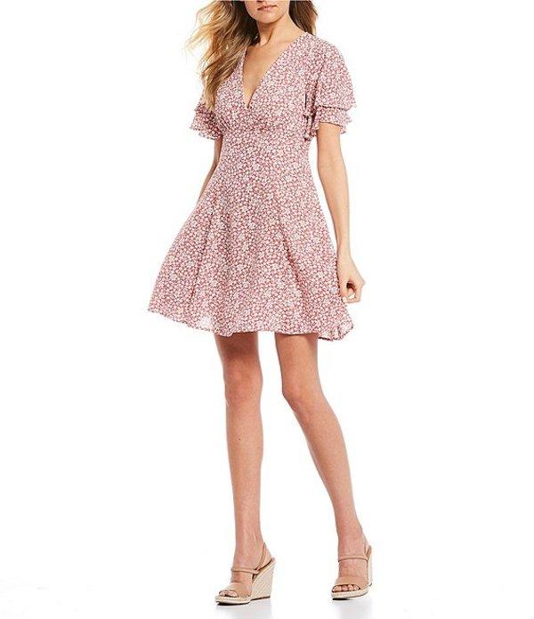 ビーダーリン レディース ワンピース トップス Short Sleeve Ditsy Floral Swing Dress Rose/Cream