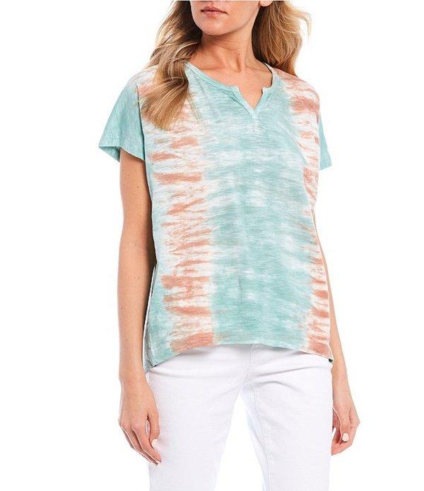 ウィリアム ラスト レディース Tシャツ トップス Isadora Tie Dye Short Sleeve Knit Tee Zephyr Blue/Sky Horizon Tie Dye