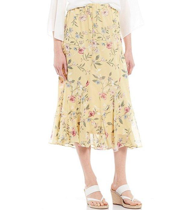 アイエヌ スタジオ レディース スカート ボトムス Floral Print Pull-On Midi Skirt Vintage Floral