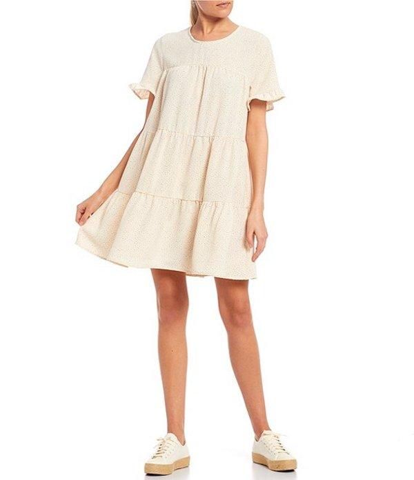 ブルーペッペーブルーペッパー レディース ワンピース トップス Tiered Babydoll Dress Ivory Multi