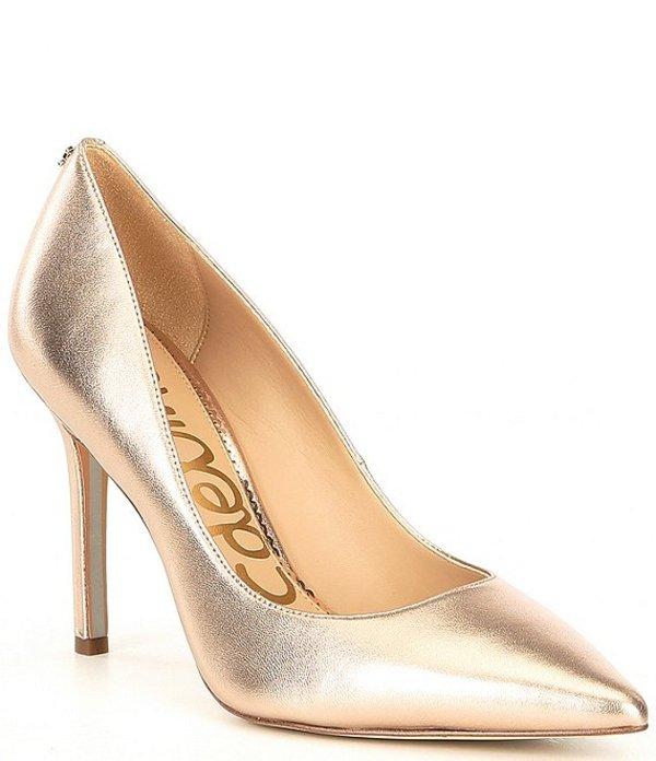 サムエデルマン レディース パンプス シューズ Hazel Leather Pointed Toe Pumps Champagne