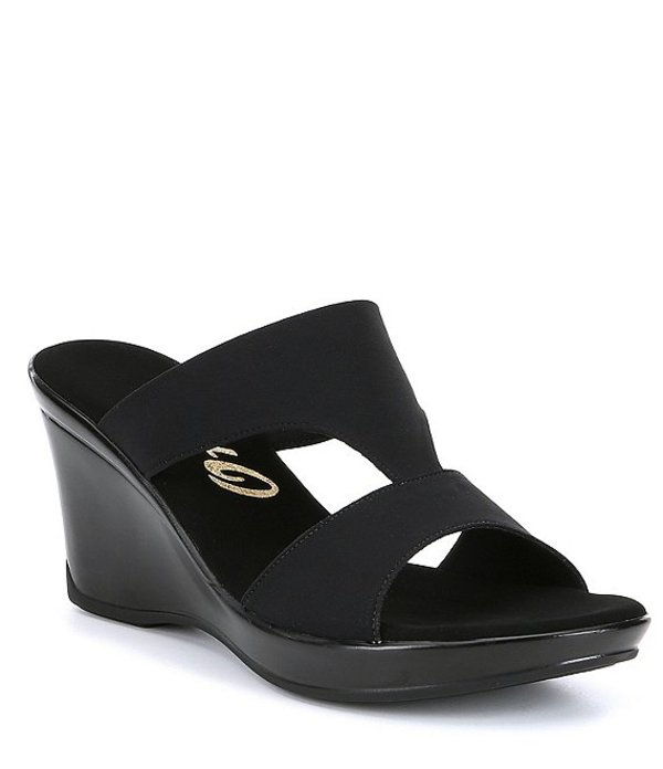 オネックス レディース サンダル シューズ Gabi Stretch Fabric Slip-On Sandals Black