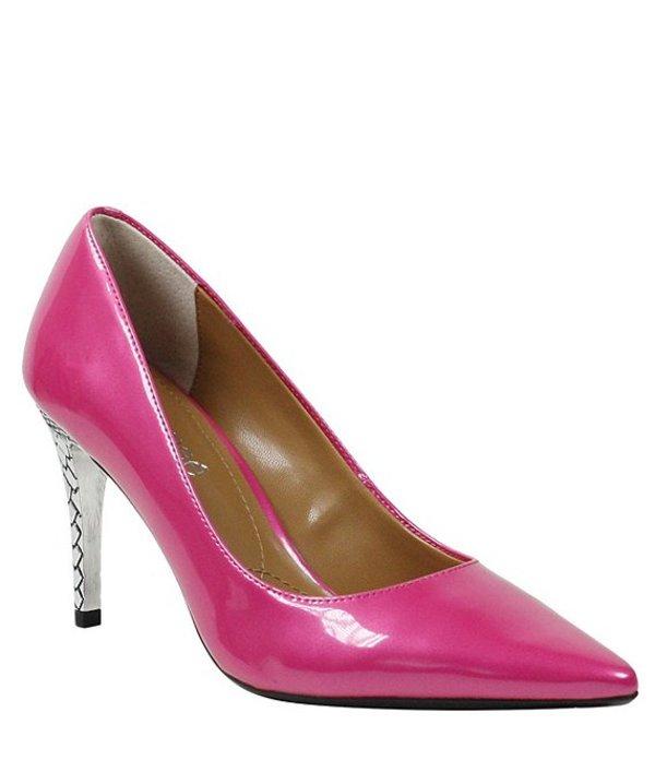 ジェイレニー レディース ヒール シューズ Maressa Metallic Patent Pumps Hot Pink
