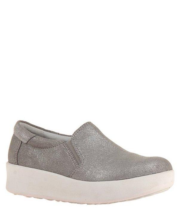 オーティービーティー レディース スニーカー シューズ Forever Camile Suede Slip Wedge Sneakers Grey Silver