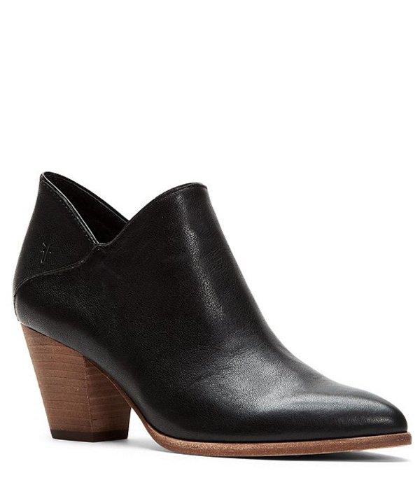 フライ レディース ブーツ・レインブーツ シューズ Reed Leather Block Heel Booties Black