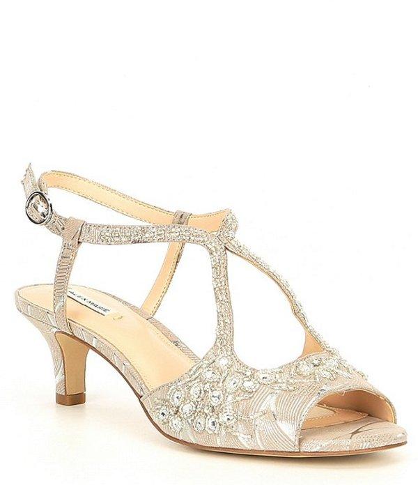 アレックスマリー レディース サンダル シューズ Mabbie Bead Embellished Peep Toe Evening Sandals Light Grey