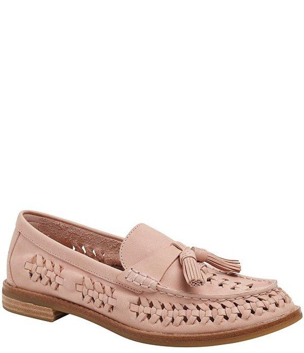 スペリー レディース スリッポン・ローファー シューズ Seaport Penny Plushwave Woven Leather Loafers Rose Dust