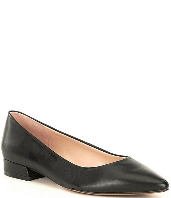 プレストンアンドヨーク レディース スリッポン・ローファー シューズ Saylor Leather Pointed Toe Flats Black