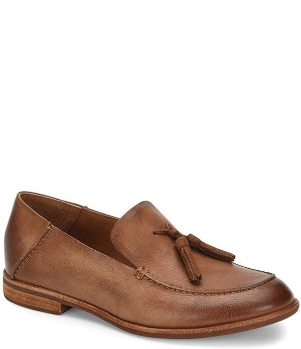 コークイーズ レディース スリッポン・ローファー シューズ Tinga Leather Tassel Moc Toe Loafers Brown