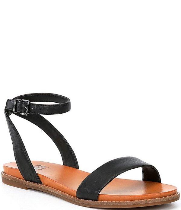 ジービー レディース サンダル シューズ Sun-Setter Banded Flat Leather Sandals Black