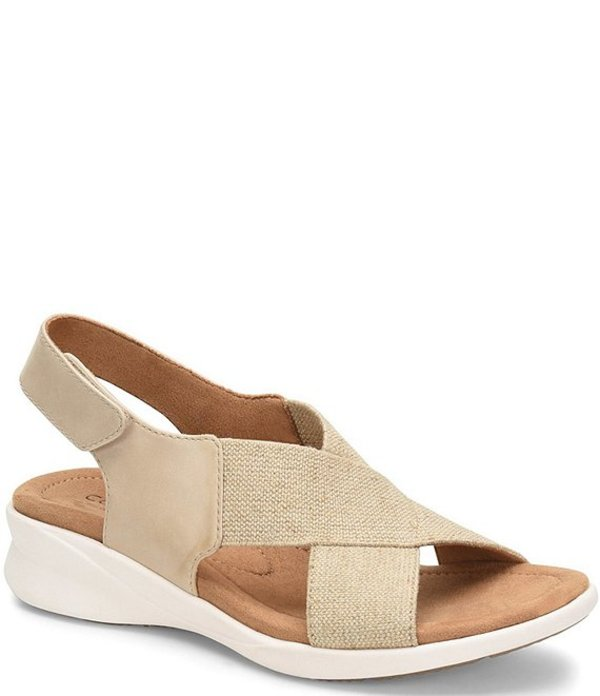 コンフォーティバ レディース サンダル シューズ Tiana Sporty Elastic Slingback Sandals Natural