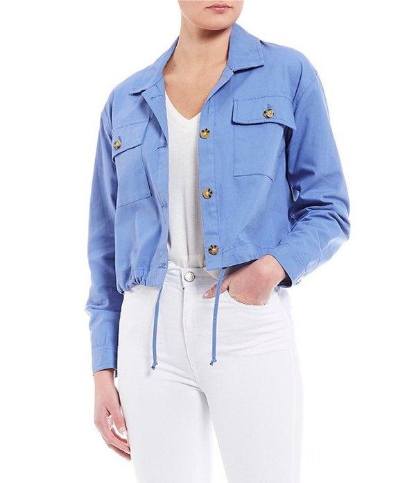 カッパーキー レディース ジャケット・ブルゾン アウター Button Front Jacket Blue