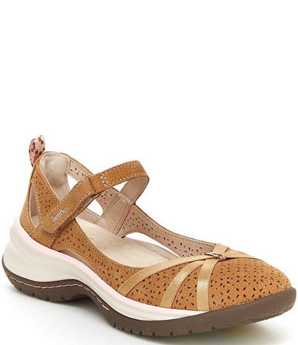 ジャンブー レディース サンダル シューズ Rally Wedge Suede Mary Jane Shoes Taupe/Petal