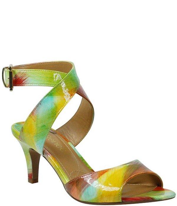 ジェイレニー レディース サンダル シューズ Soncino Printed Patent Leather Ankle Strap Dress Sandals Bright Multi