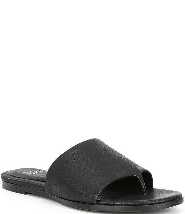 エイリーンフィッシャー レディース サンダル シューズ Edge Leather Slides Black